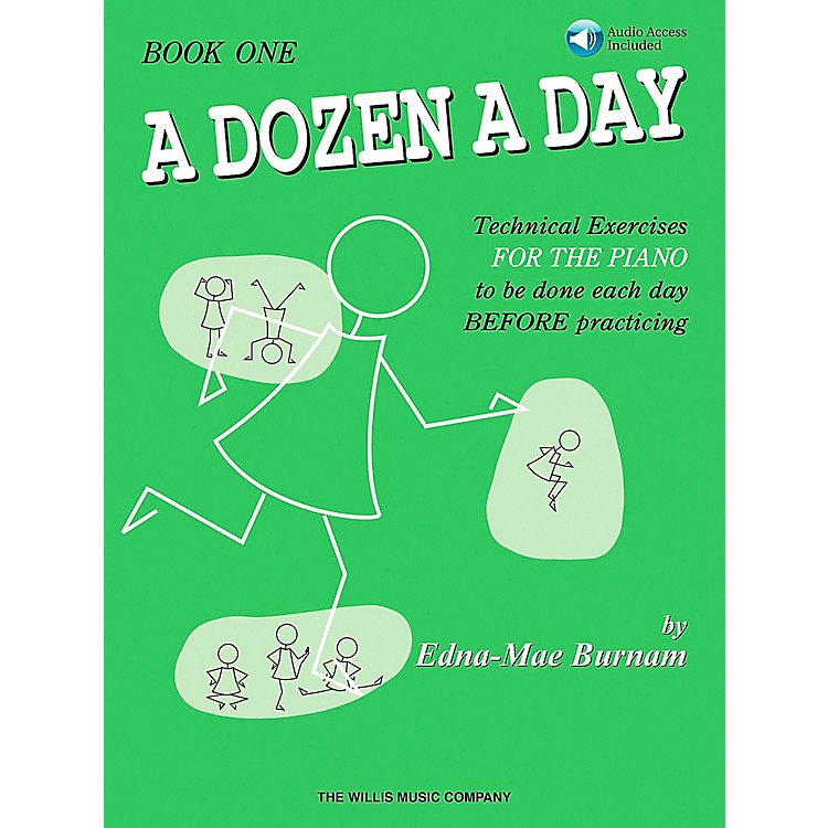 Willis Music A Dozen A Day Book 1 Book/CD