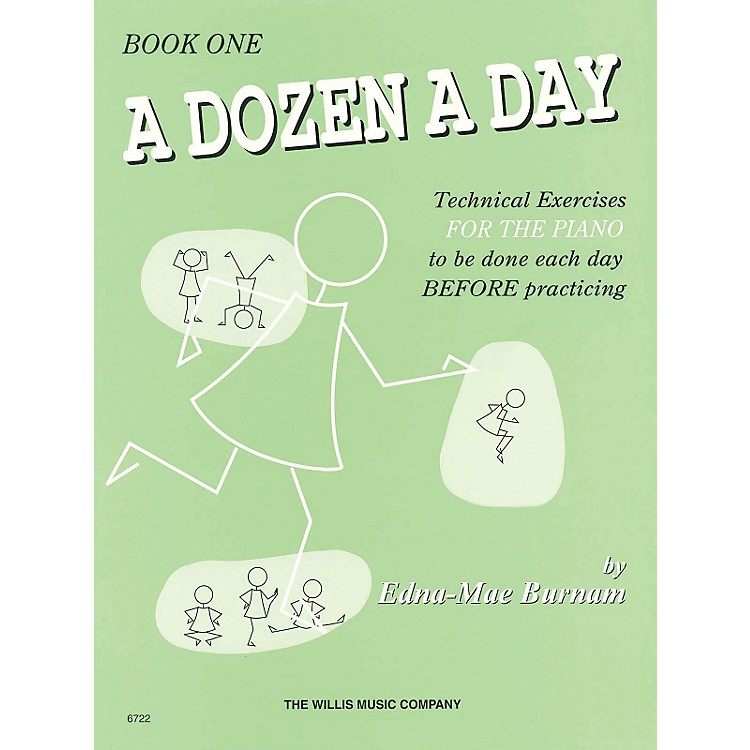 Hal Leonard A Dozen A Day Book 1 (Green cover)