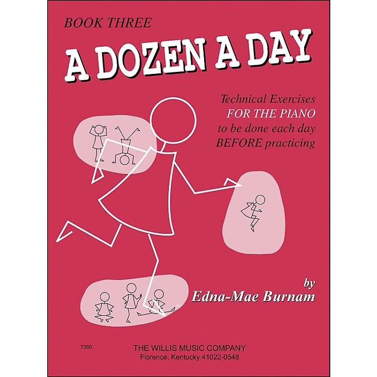 Willis MusicA Dozen A Day Book 3 Technical Exercises for Piano