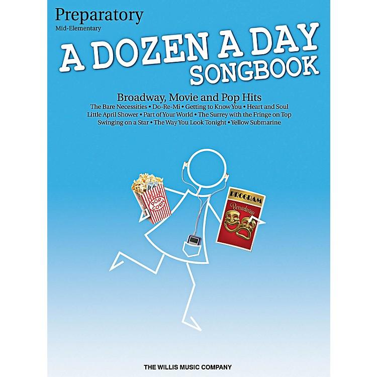 Willis MusicA Dozen A Day Songbook - Preparatory Book Mid-Elementary Level for Piano