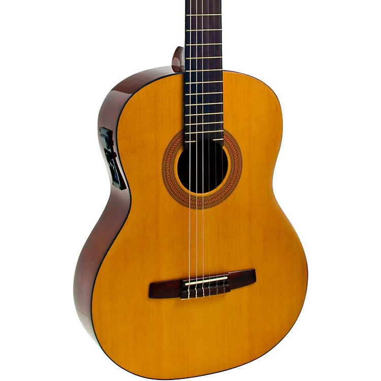 Hohner A+ Full Size Nylon String Acoustic-Electric Guitar Natural