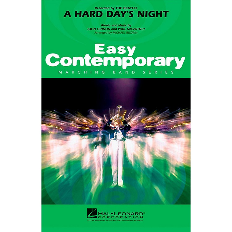 Hal LeonardA Hard Day's Night - Easy Pep Band/Marching Band Level 2