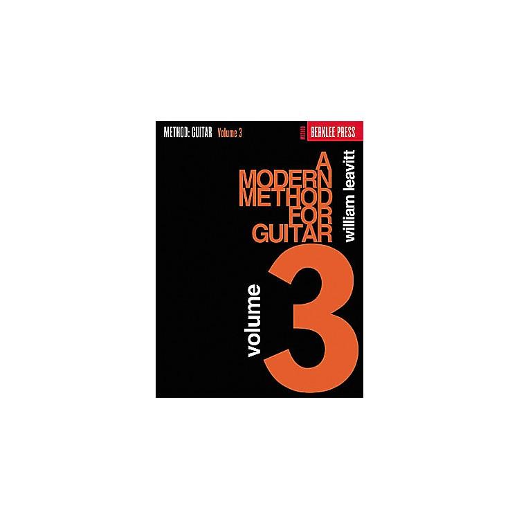 Berklee PressA Modern Method for Guitar - Volume 3 Book