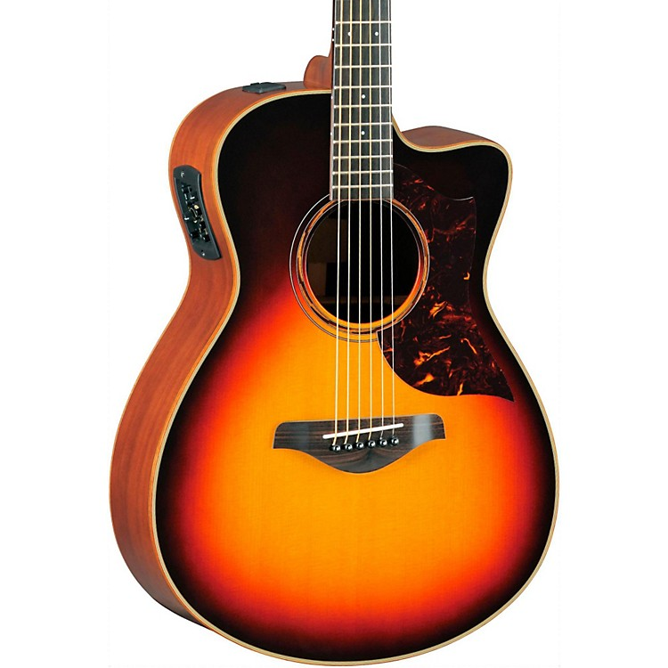 YamahaA-Series All Solid Wood Concert Acoustic-Electric Guitar with SRT Preamp/PickupVintage Sunburst