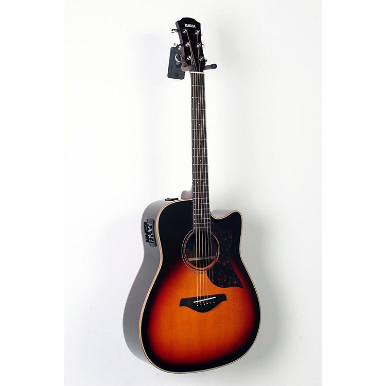 Yamaha A-Series All Solid Wood Dreadnought Acoustic-Electric Guitar with SRT Preamp/Pickup Vintage Sunburst 888365846293