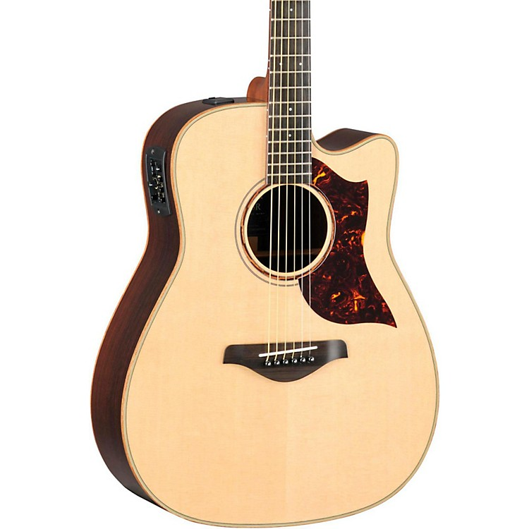Yamaha A-Series All Solid Wood Dreadnought Acoustic-Electric Guitar with SRT Preamp/Pickup Rosewood Back & Sides