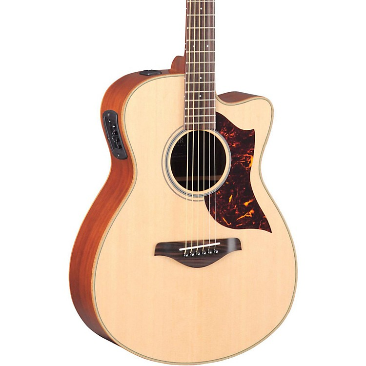 Yamaha A-Series Concert Acoustic-Electric Guitar with SRT Pickup Mahogany Back and Sides