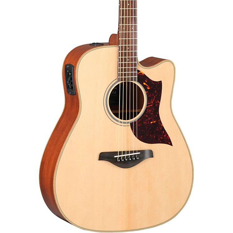 Yamaha A-Series Dreadnought Acoustic-Electric Guitar with SRT Pickup Mahogany Back and Sides