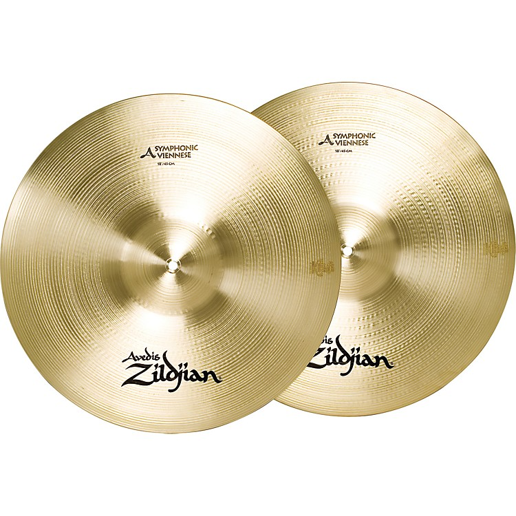 ZildjianA Symphonic Viennese Tone Crash Cymbal Pair18 in.