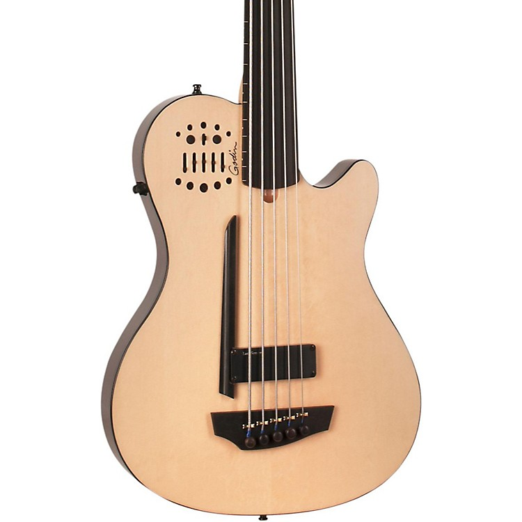 GodinA5 Ultra Bass Fretless SA 5-String Acoustic-Electric Bass GuitarNaturalEbony Fretboard