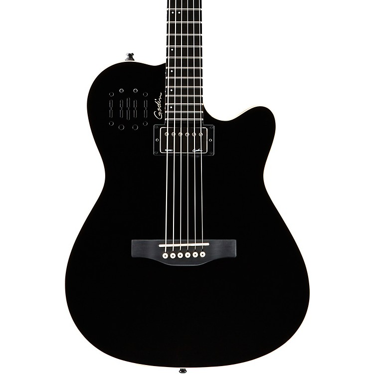 Godin A6 Ultra HG Semi-Acoustic Electric Guitar Black