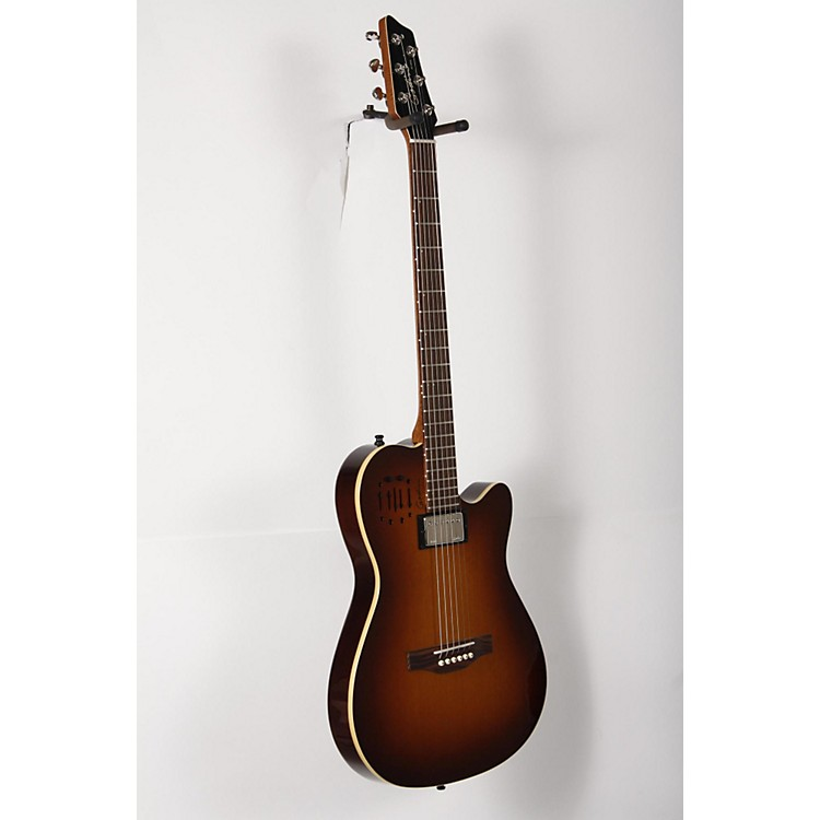 Godin A6 Ultra HG Semi-Acoustic Electric Guitar Cognac Burst 888365896076