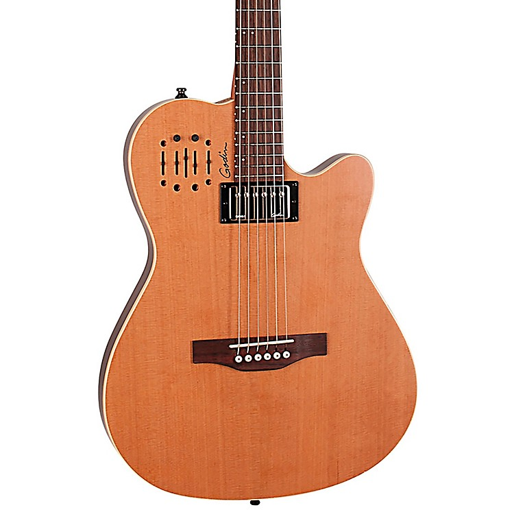 Godin A6 Ultra Semi-gloss Semi-Acoustic-Electric Guitar Natural Cedar