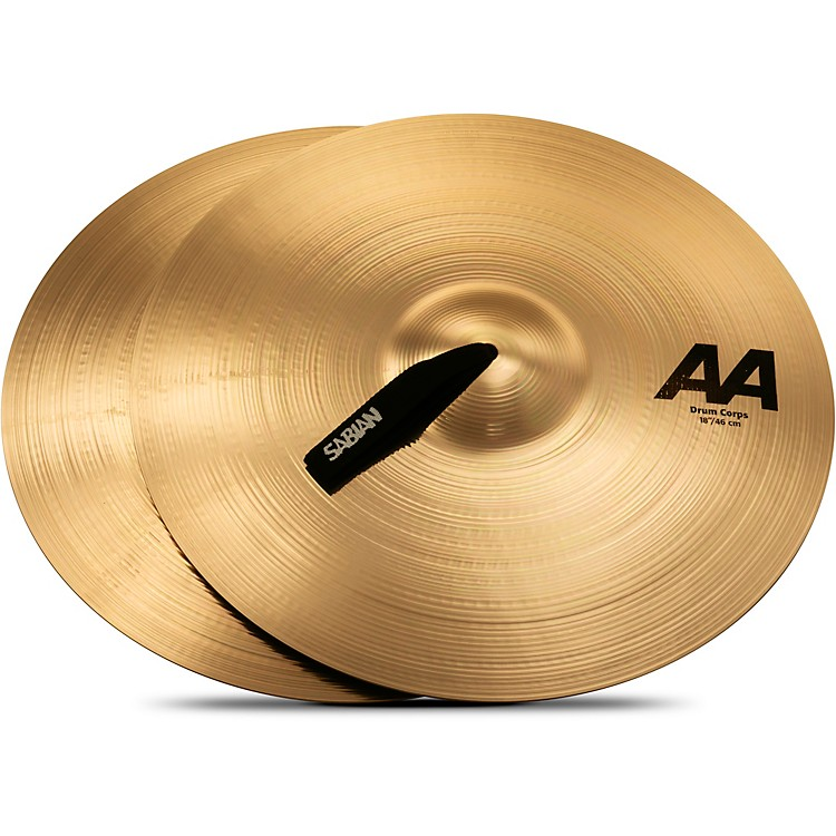 Sabian AA Drum Corps Cymbals 18 In Brilliant