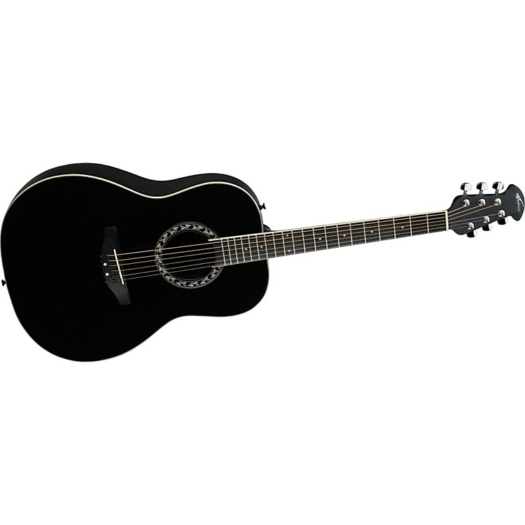 Applause AA21 Acoustic Guitar Black
