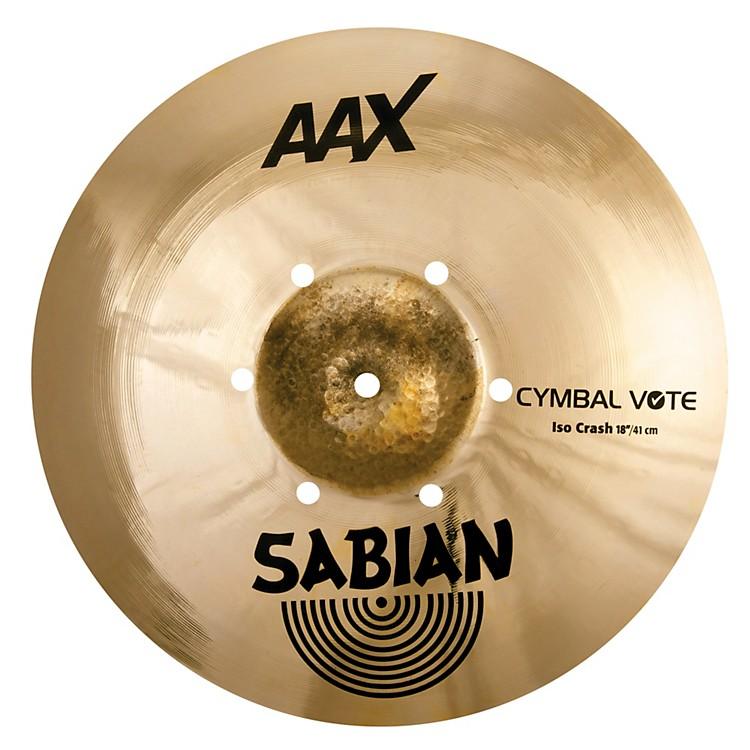 SabianAAX ISO Crash Cymbal18 in.