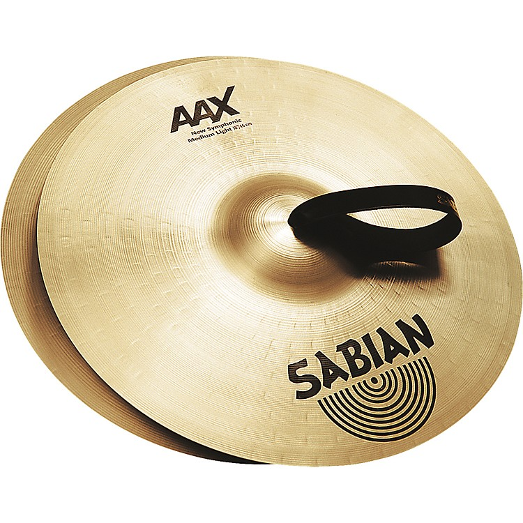 Sabian AAX New Symphonic Medium Light Cymbal Pair 22 in.