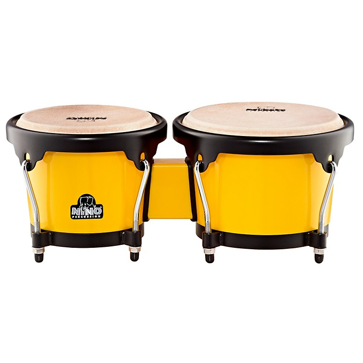 Nino ABS Bongos Plus Yellow Shell/Black Hardware 6-1/2 & 7-1/2 in.