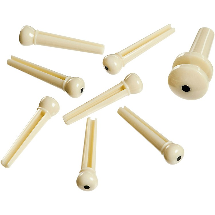 D'Addario Planet Waves ABS Bridge/End Pin Set Ivory and Black