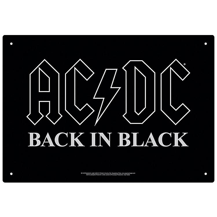 Hal LeonardAC/DC Back in Black Tin Sign