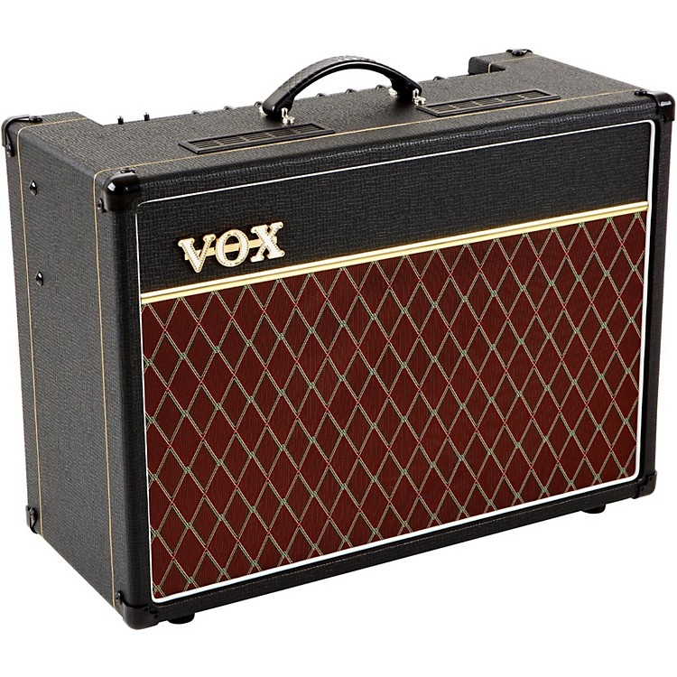 VoxAC15C1 Custom 15W 1x12 Tube Guitar Combo Amp Vintage RedBlack