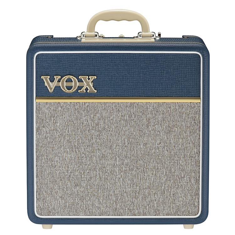 Vox AC4C-BL 4W 1x10 All-Tube Mini Guitar Combo Amp with Top Boost Blue
