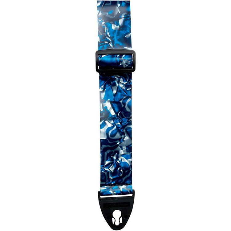 D'Andrea ACE 2-Inch Vintage Vinyl Guitar Strap Blue Swirl Pearl