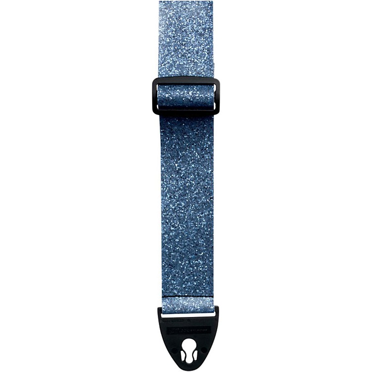 D'Andrea ACE 2-Inch Vintage Vinyl Guitar Strap Moody Blue Glass Glitter