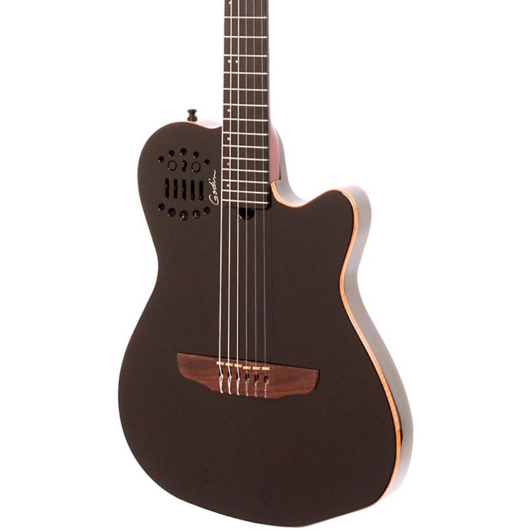 Godin ACS-SA Nylon String Cedar Top Acoustic-Electric Guitar Black Pearl
