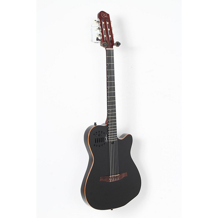Godin ACS-SA Slim Nylon String Cedar Top Acoustic-Electric Guitar Black Pearl 888365909844