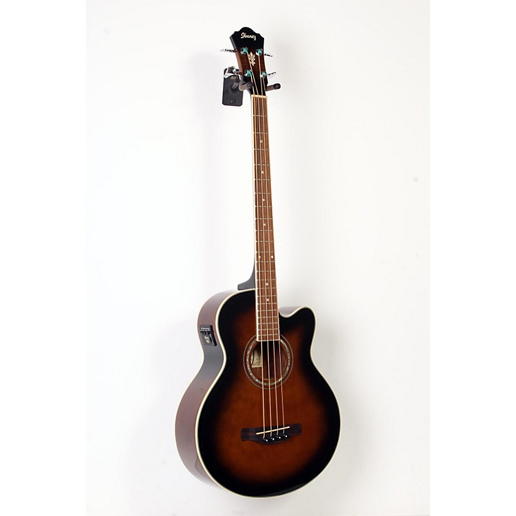 Ibanez AEB10E Acoustic-Electric Bass Guitar with Onboard Tuner Dark Violin Sunburst 888365901060