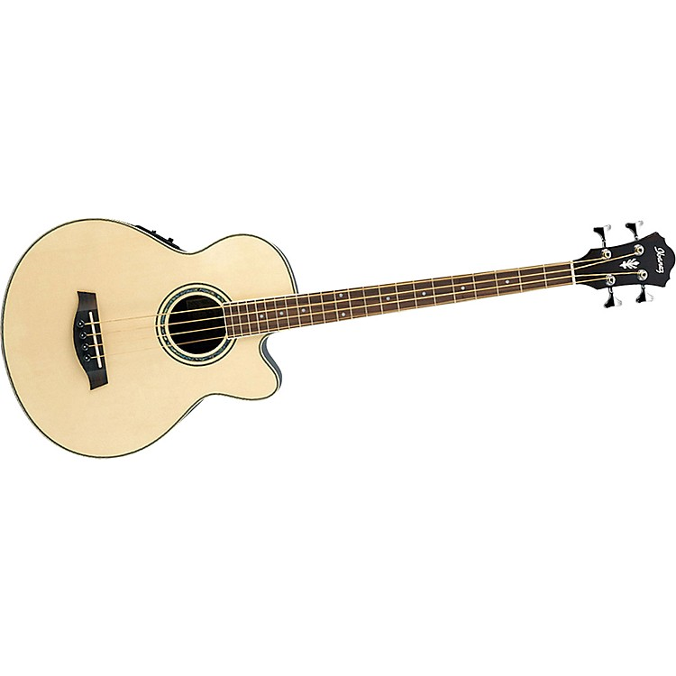 Ibanez AEB10E Acoustic-Electric Bass Guitar with Onboard Tuner Natural