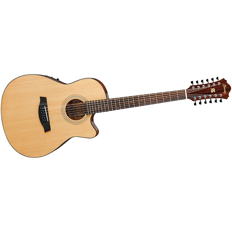 IbanezAEF1512ENT 12-String Cutaway Acoustic-Electric GuitarNatural Gloss