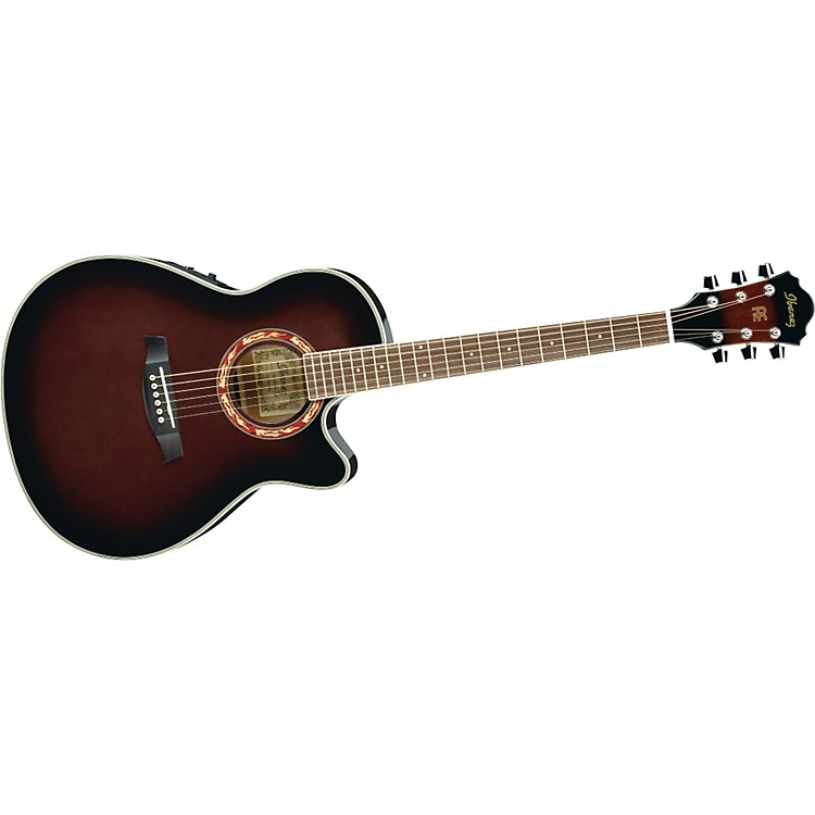 Ibanez AEF18E Acoustic-Electric Guitar with Onboard Tuner Dark Violin Sunburst