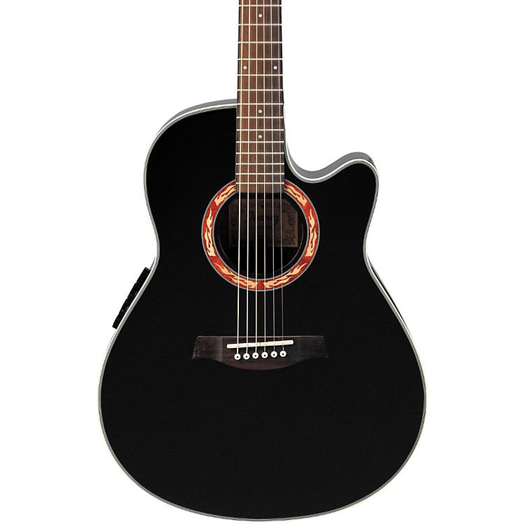 Ibanez AEF18E Acoustic-Electric Guitar with Onboard Tuner Gloss Black