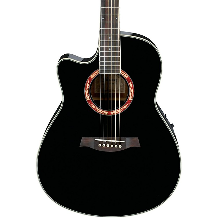 Ibanez AEF18LE Left-Handed Acoustic-Electric Guitar Black