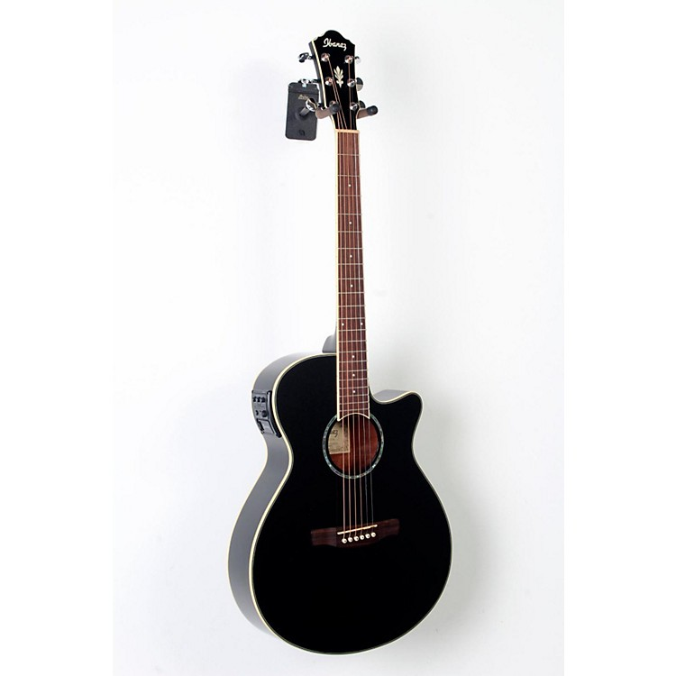Ibanez AEG10II Cutaway Acoustic-Electric Guitar Black 888365787428