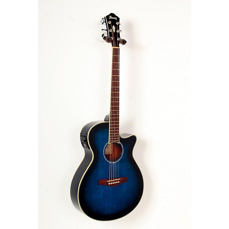 IbanezAEG10II Cutaway Acoustic-Electric GuitarTransparent Blue Burst888365813370