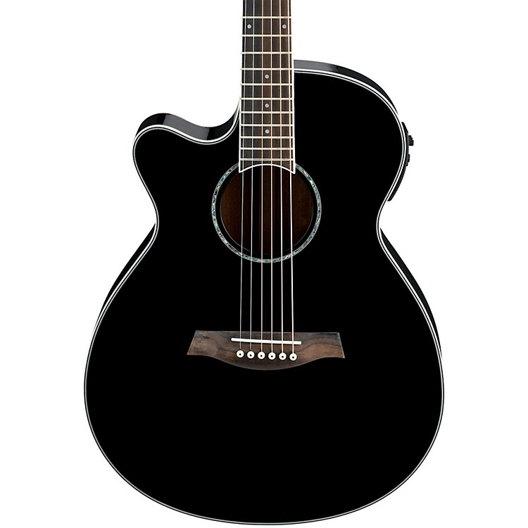 ibanez aeg10lii lefty cutaway acoustic electric guitar black music123. Black Bedroom Furniture Sets. Home Design Ideas