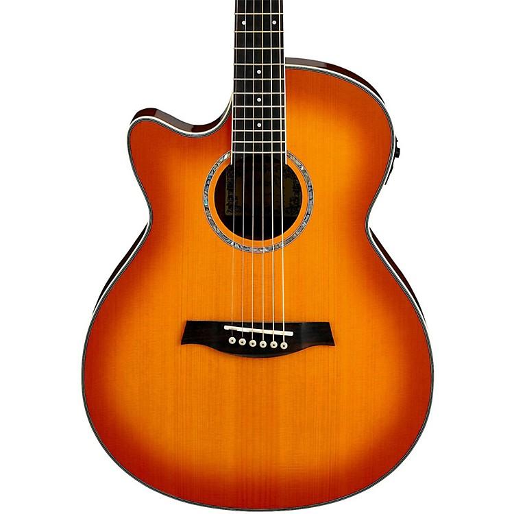 IbanezAEG18LII Cutaway Left-Handed Acoustic Electric GuitarVintage Violin Sunburst