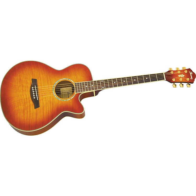 Ibanez AEG20E Flamed Sycamore Top Acoustic-Electric Guitar Vintage Violin
