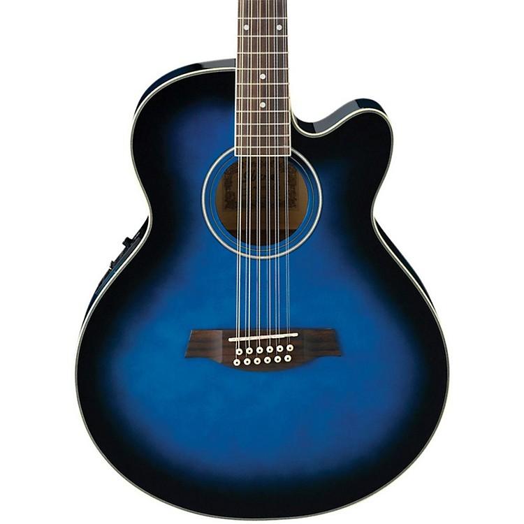 IbanezAEL152ETBS 12-String Cutaway Acoustic-Electric GuitarTransparent Blue Sunburst