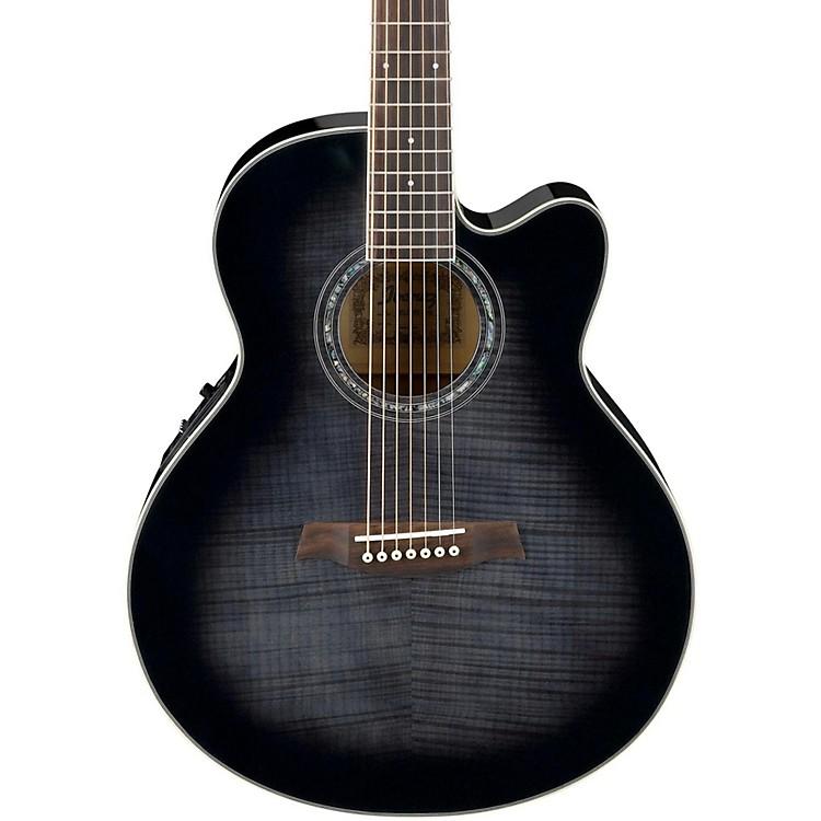 IbanezAEL207E 7-String Acoustic-Electric GuitarTrans Black Sunburst