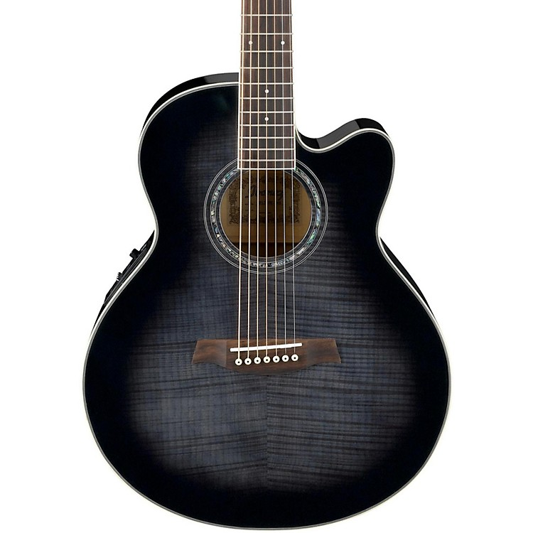 Ibanez AEL207E 7-String Acoustic-Electric Guitar Transparent Black Sunburst