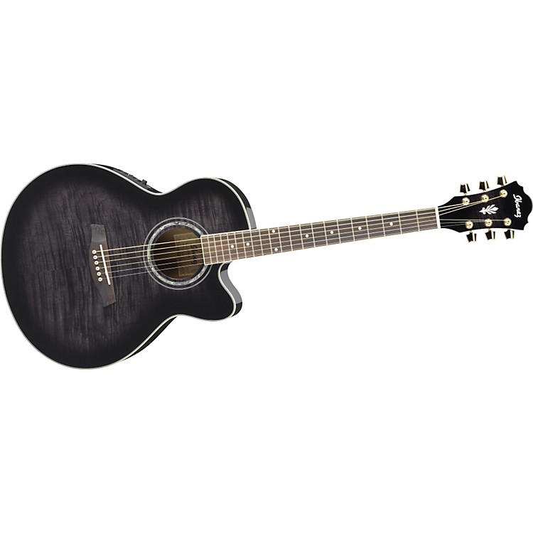 Ibanez AEL20ENT Acoustic-Electric Guitar Transparent Black Sunburst