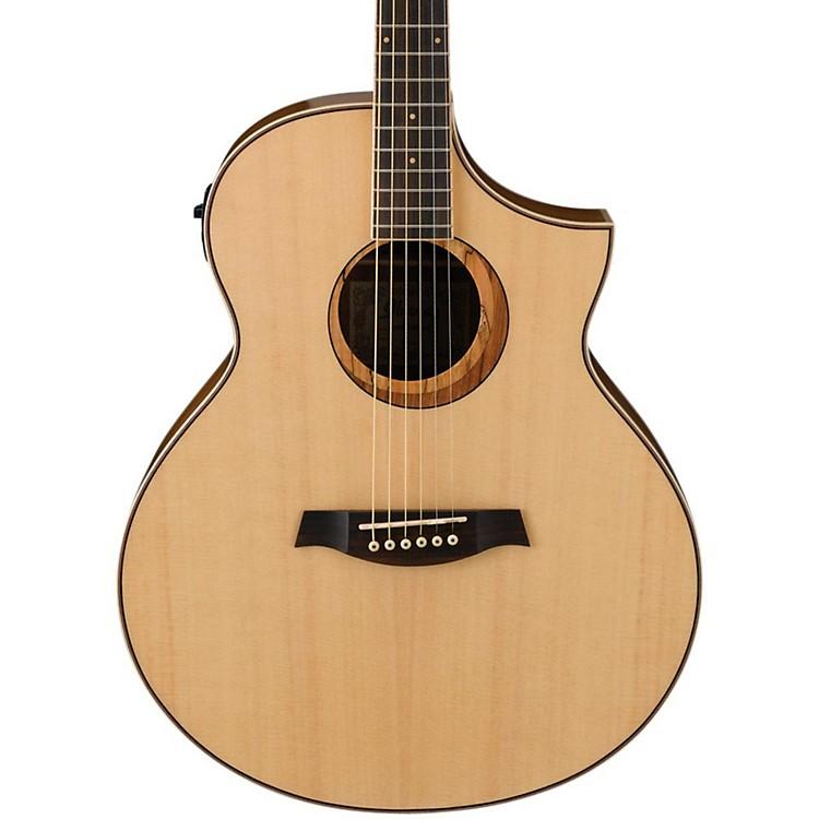 IbanezAEW21VKNT Ovangkol Exotic Wood Acoustic-Electric GuitarNatural Gloss