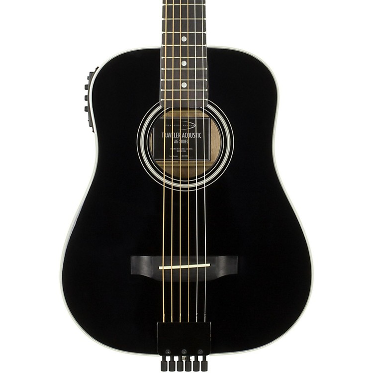 Traveler Guitar AG-200EQ Acoustic-Electric Travel Guitar Black