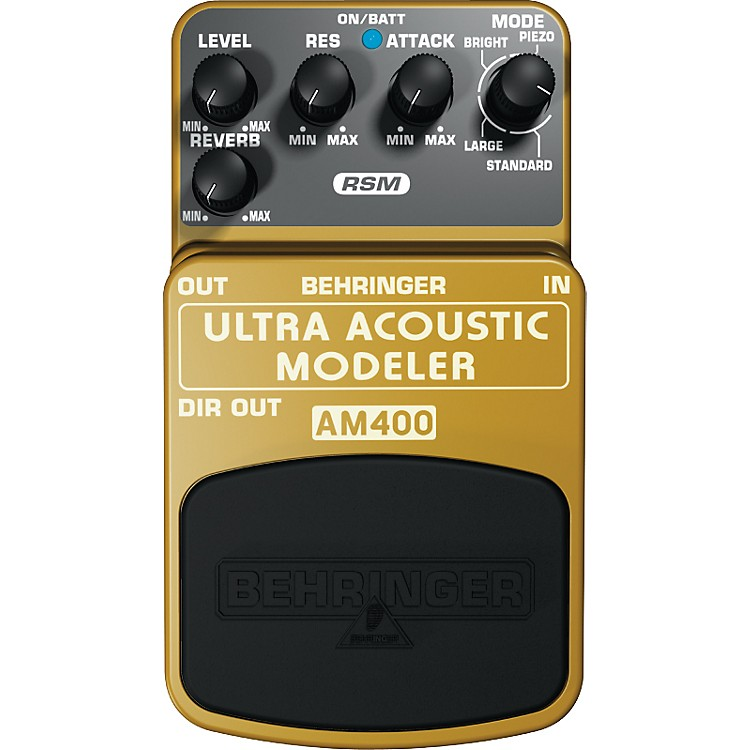 Behringer AM400 Ultra Acoustic Modeler Guitar Modeling Effects Pedal
