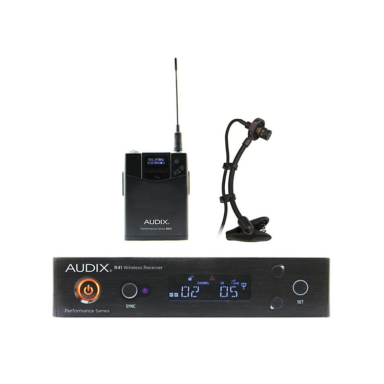 Audix AP41SAX Instrument Wireless System w/ ADX20i Clip-On Instrument Condenser mic 554-586 MHz