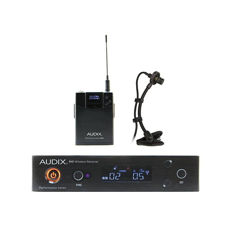 AudixAP41SAX Instrument Wireless System w/ ADX20i Clip-On Instrument Condenser mic554-586 MHz